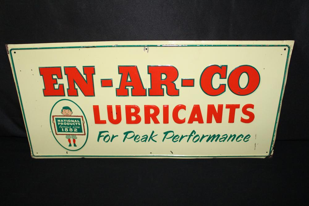 WHITE ROSE ENARCO LUBRICANTS MOTOR OIL TIN SIGN