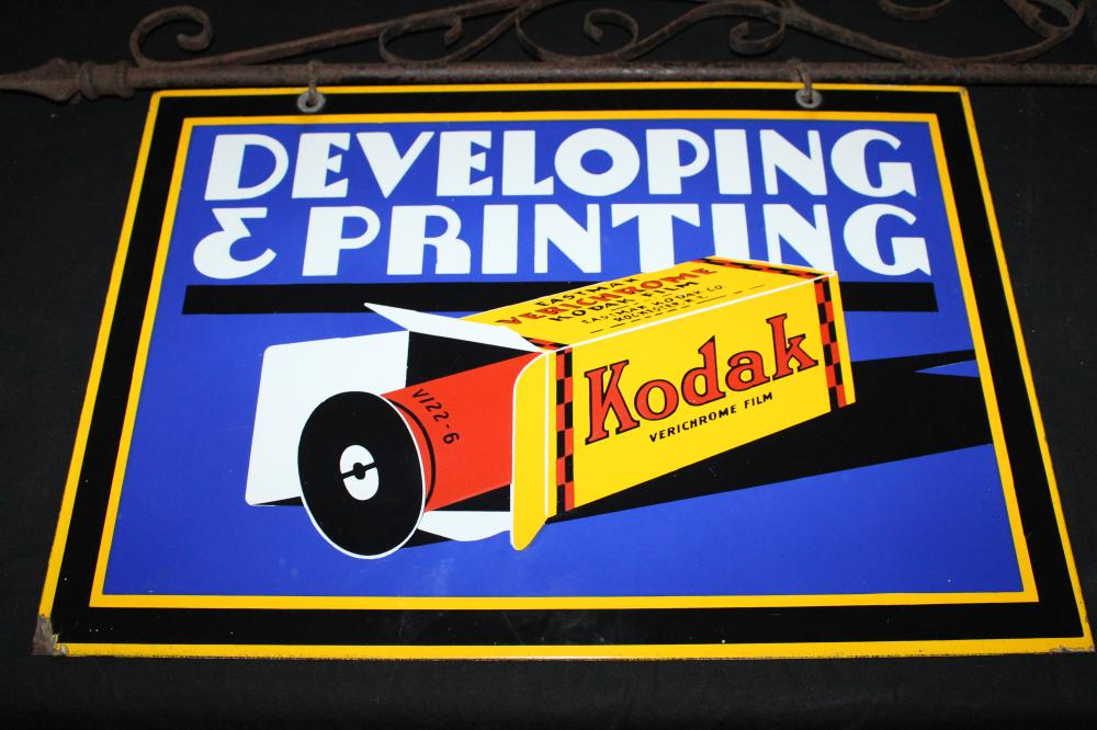 PORCELAIN KODAK FILM DEVELOPING & PRINTING SIGN