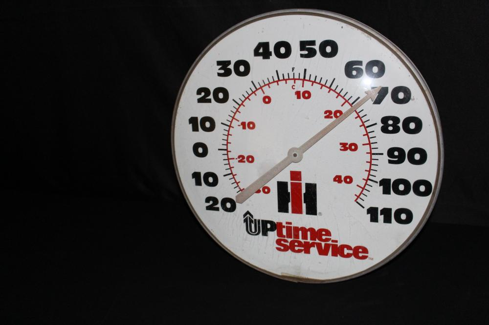 INTERNATIONAL HARVESTER UPTIME THERMOMETER SIGN