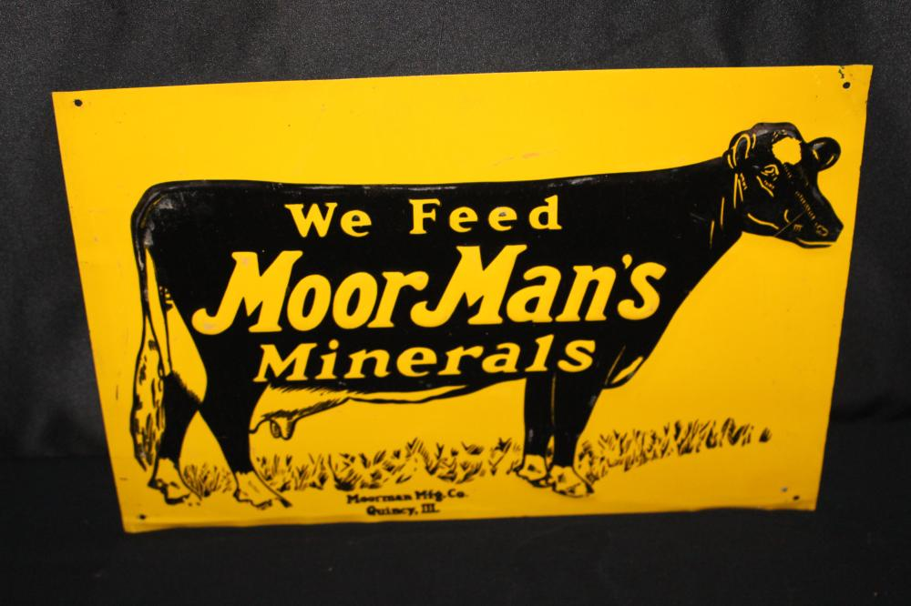 WE FEED MOORMANS MINERALS DAIRY COW FARM SIGN