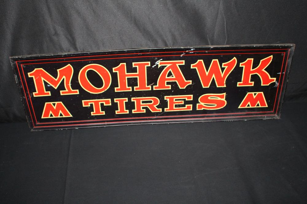 MOHAWK TIRES TIN SERVICE STATION SIGN