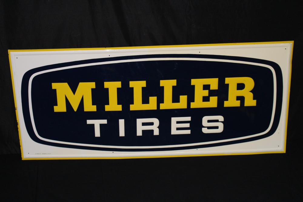 MILLER TIRES TIN TIRE SIGN