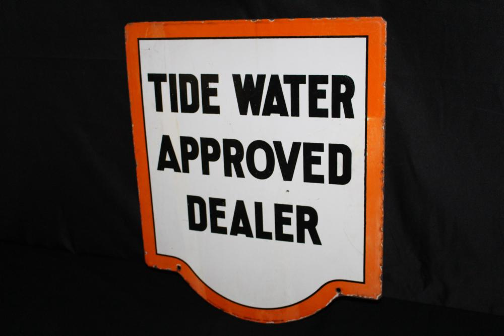 PORCELAIN TIDE WATER APPROVED DEALER SIGN