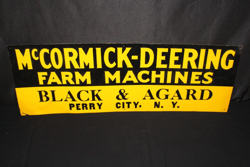 MCCORMICK DEERING FARM MACHINES PERRY CITY NY SIGN