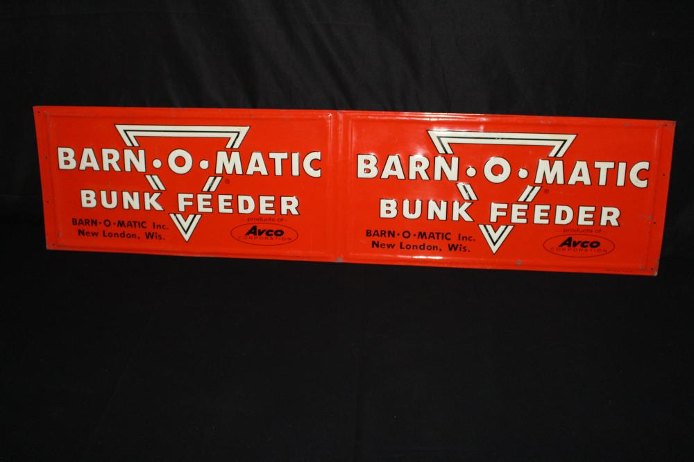 AVCO BARN O MATIC NEW LONDON WI TIN FARM SIGN