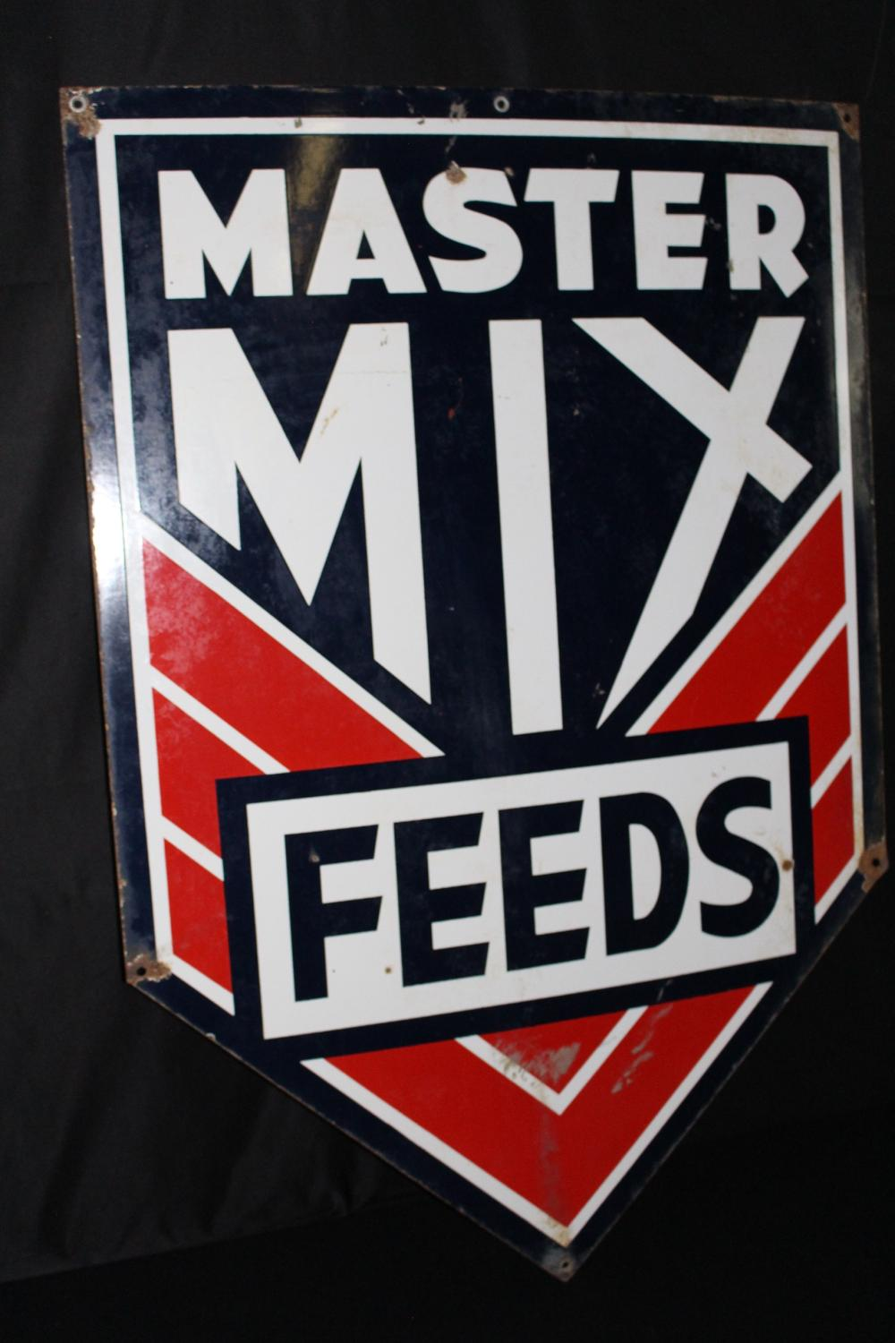 PORCELAIN MASTER MIX FEEDS SIGN