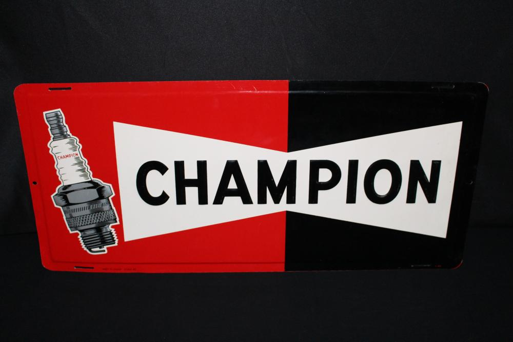 CHAMPION SPARK PLUGS TIN SIGN