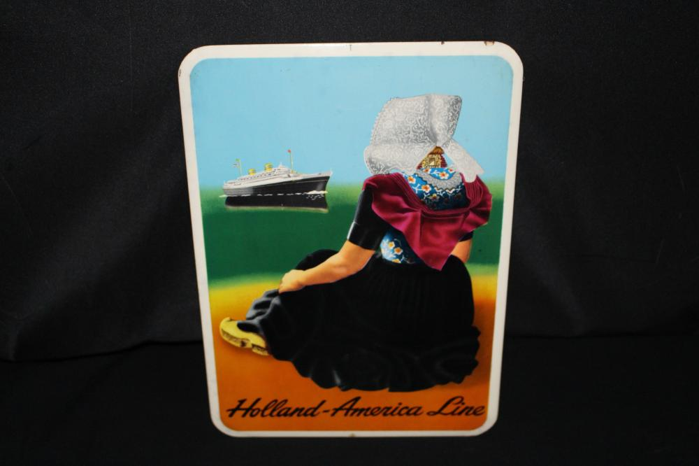 1940'S HOLLAND AMERICA LINESTEAMSHIP SIGN