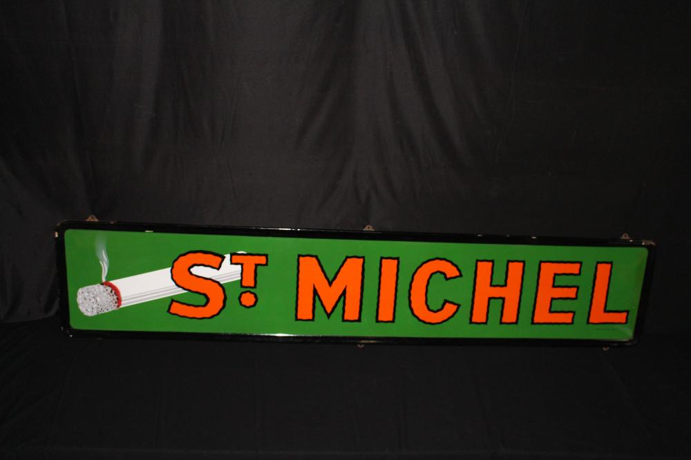 PORCELAIN ST MICHEL CIGARETTE SIGN