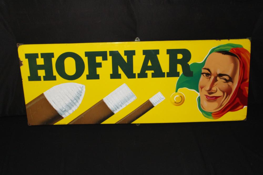 PORCELAIN HOFNAR CIGARS SIGN