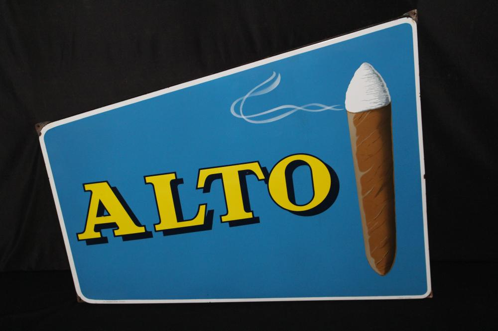 PORCELAIN ALTO CIGARS SIGN