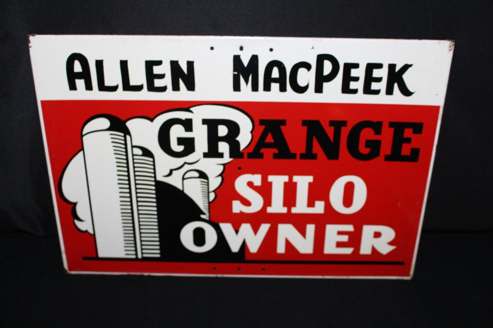 ALLEN MACPEEK GRANGE SILO OWNER FARM SIGN