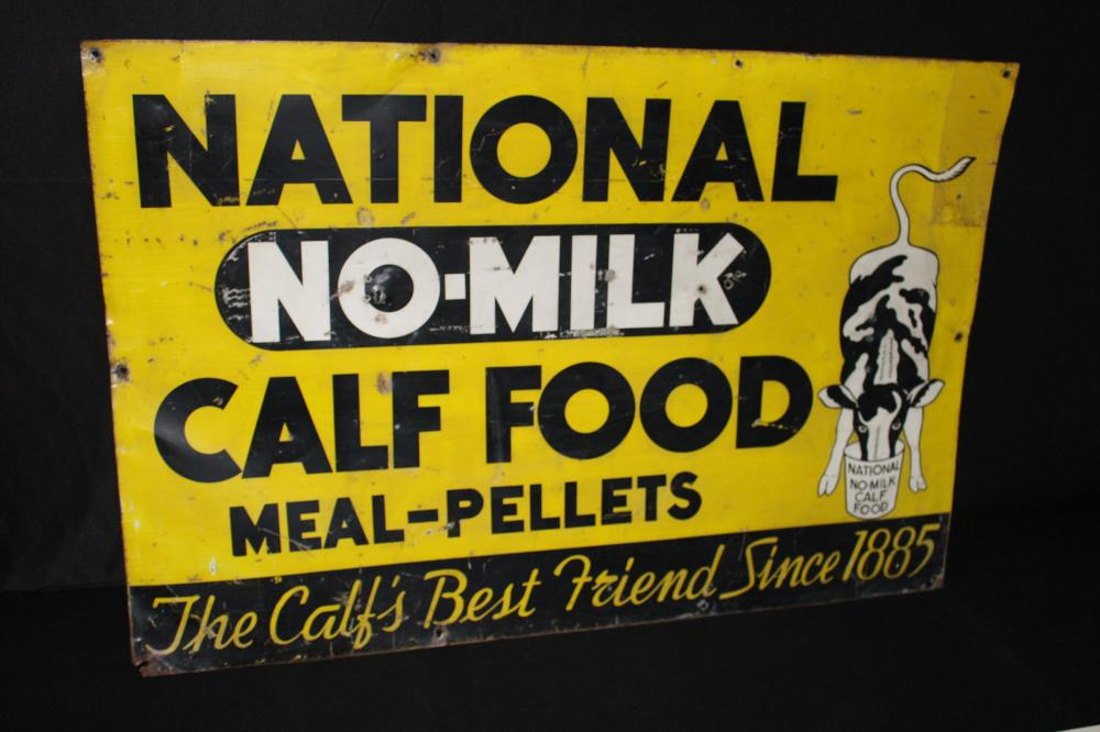 NATIONAL NO MILK CALF FOOD FARM SIGN