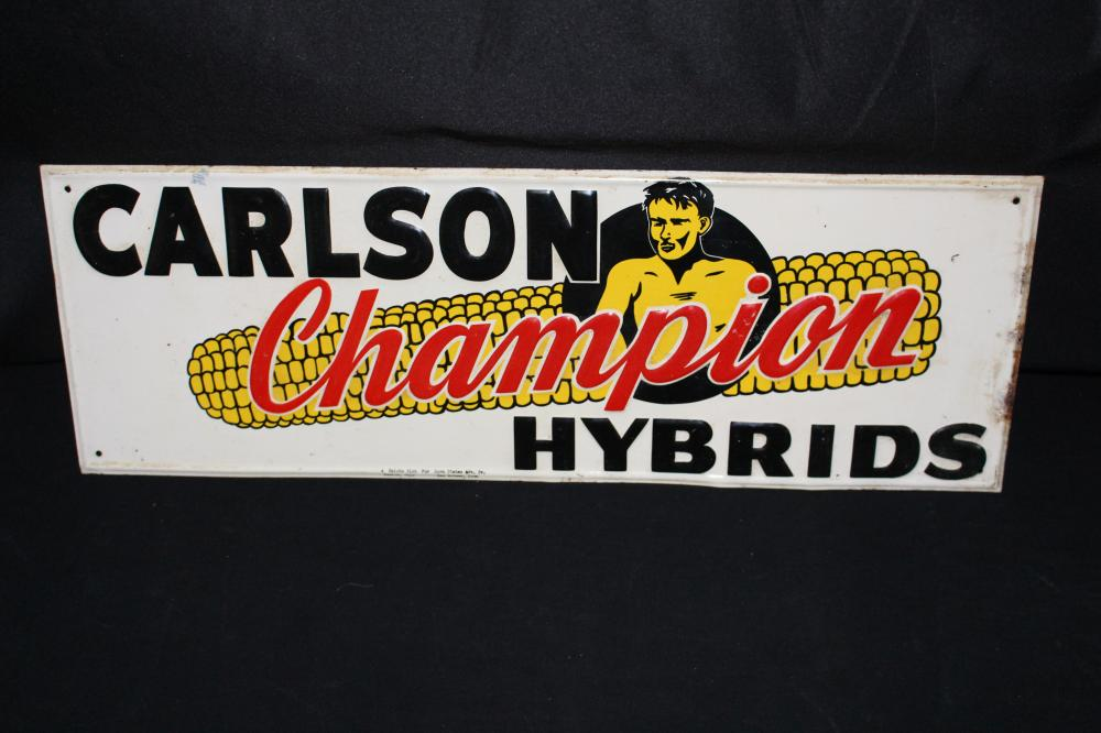 CARLSON CHAMPION HYBRID SEED CORN FARM SIGN