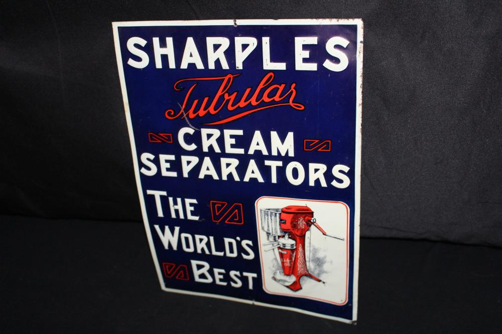 SHARPLES TUBULAR CREAM SEPARATOR TIN FARM SIGN