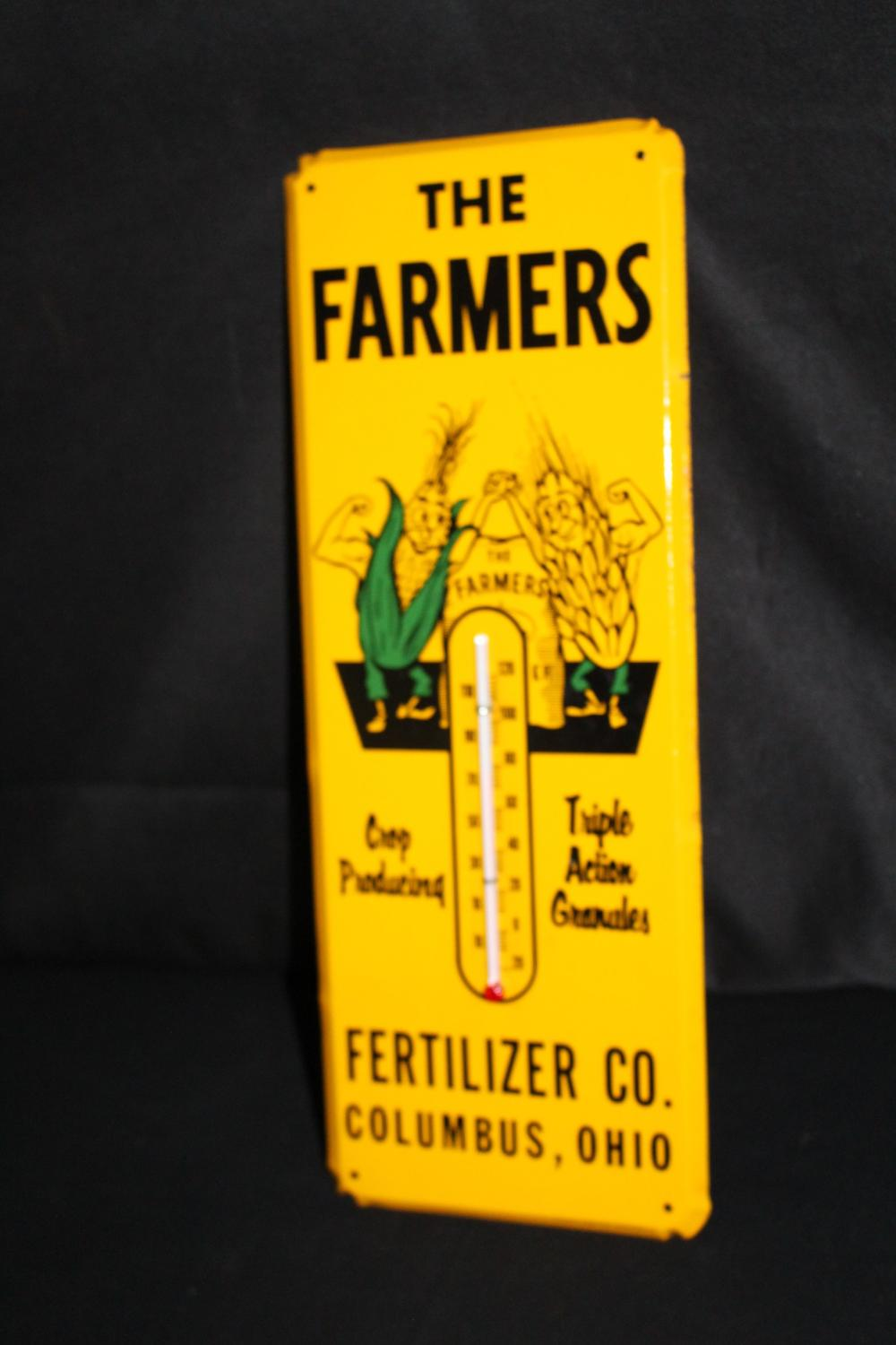 THE FARMERS FERTILIZER CO THERMOMETER SIGN