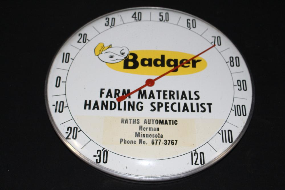 BADGER FARM EQUIPMENT HERMAN MN THERMOMETER