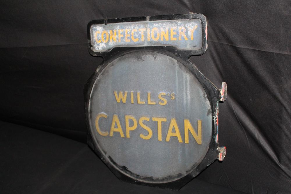 WILL'S CAPSTAN CIGARETTES CONFECTIONERY SIGN