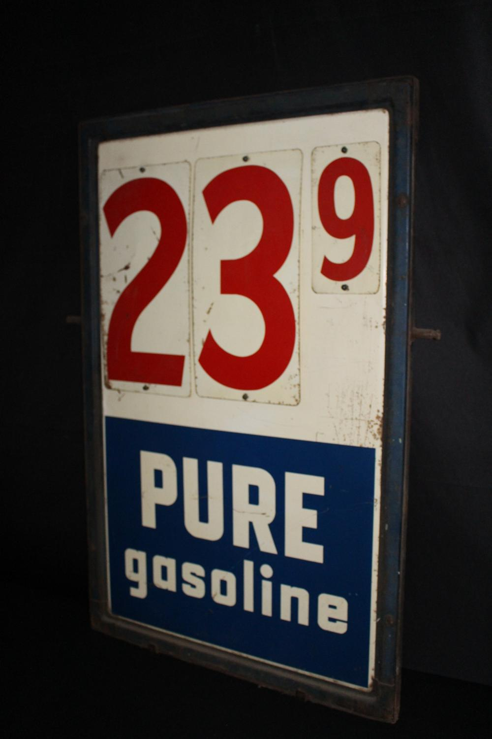 PURE GASOLINE GAS STATION PRICER SIGN