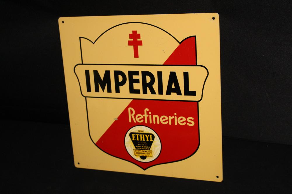 IMPERIAL REFINERIES ETHYL GASOLINE GAS PUMP SIGN