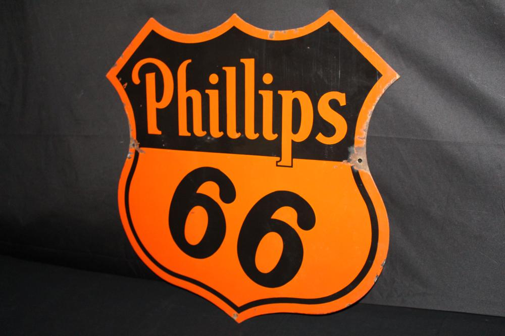 PORCELAIN PHILLIPS 66 GASOLINE OIL SIGN