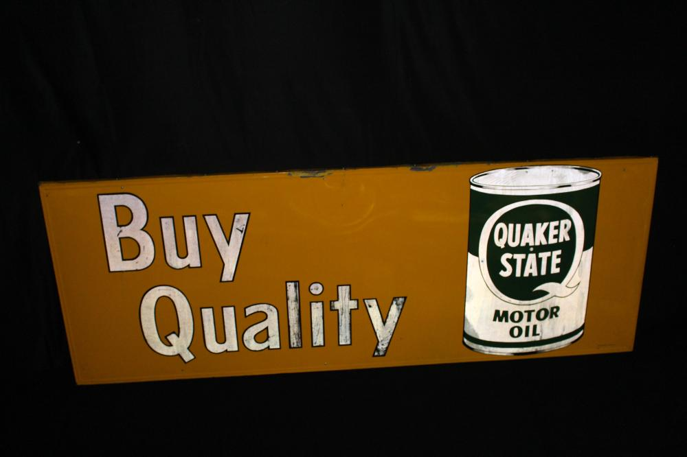 LARGE QUAKER STATE MOTOR OIL SIGN