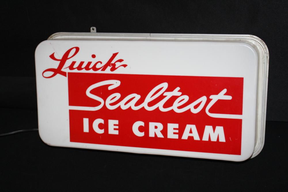 LUICK SEAL TEST ICE CREAM LIGHTED SIGN