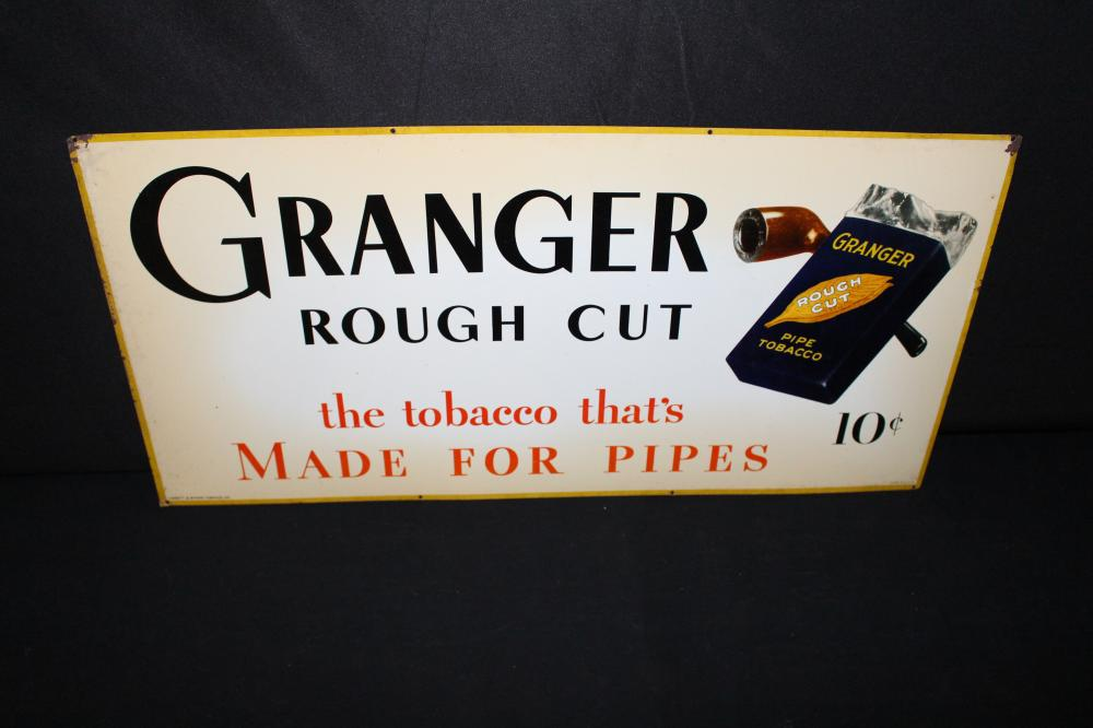 GRAINGER ROUGH CUT TOBACCO TIN SIGN