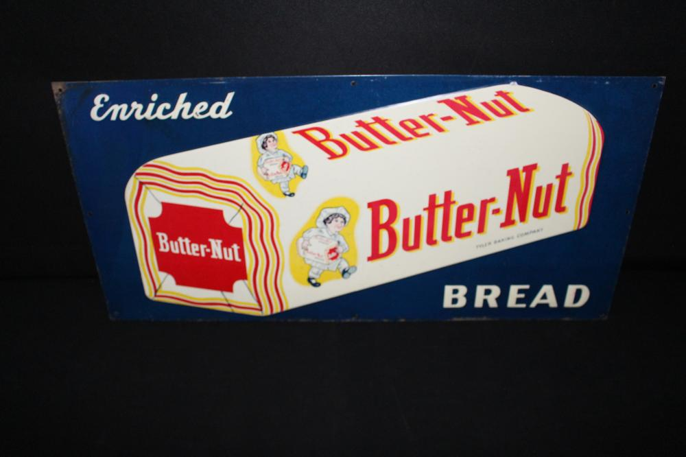 TYLER BAKING CO BUTTER NUT BREAD SIGN