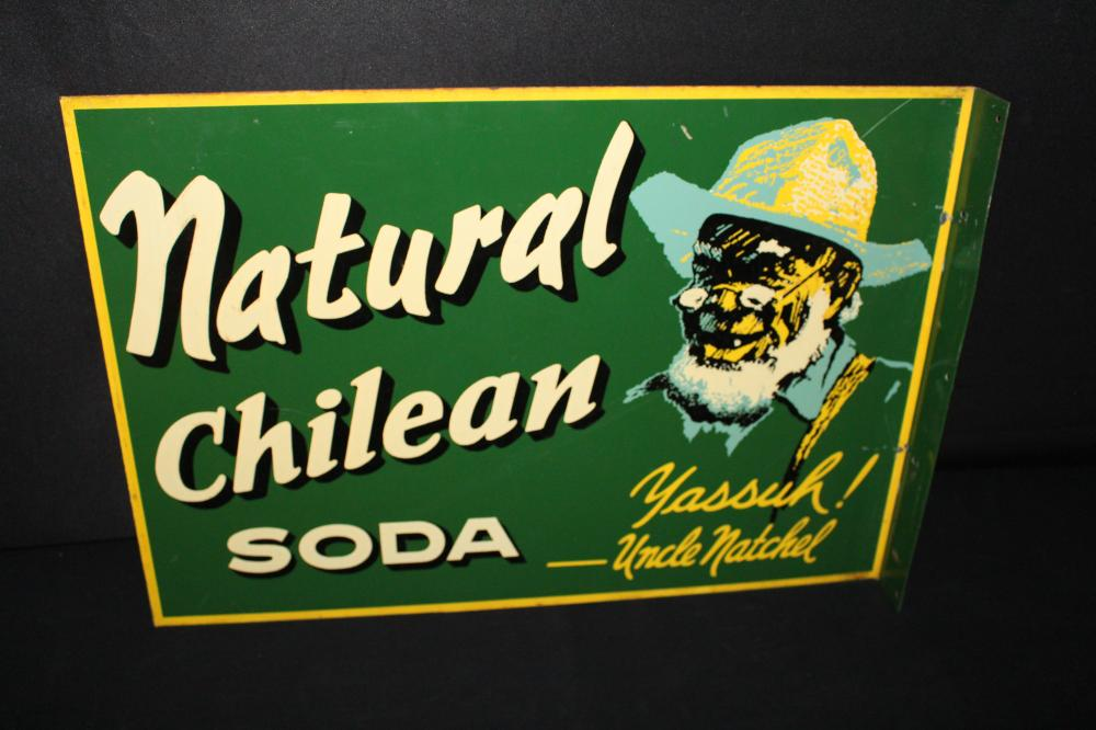 NATURAL CHILEAN SODA FARM FERTILIZER FLANGE SIGN
