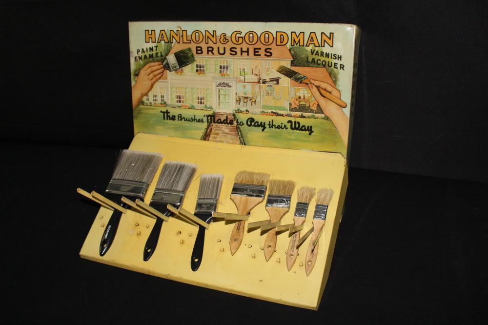 HANLON & GOODMAN PAINT BRUSH DISPLAY SIGN