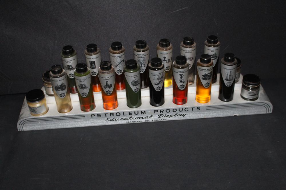 STANDARD OIL PETROLEUM PRODUCTS OIL BOTTLE DISPLAY