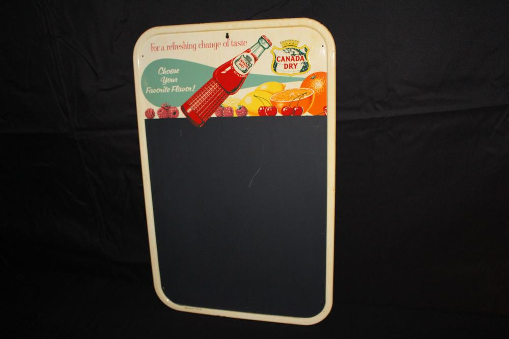 CANADA DRY SODA POP BLACKBOARD SIGN