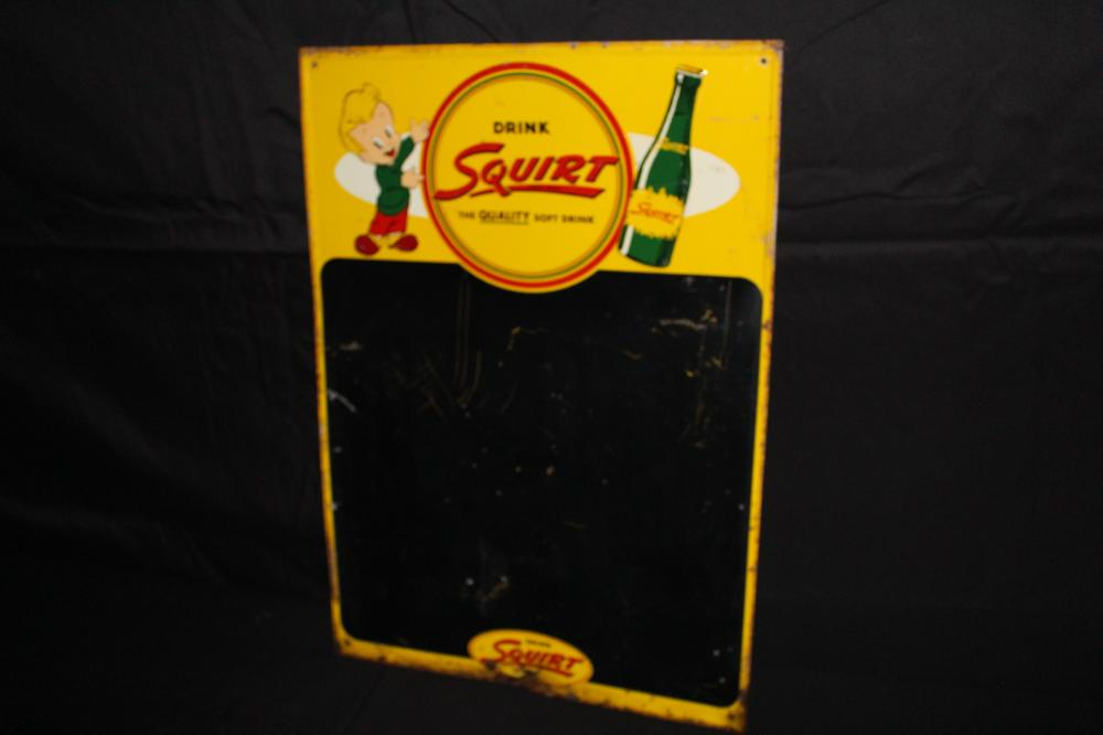 DRINK SQUIRT SODA POP BLACKBOARD SIGN