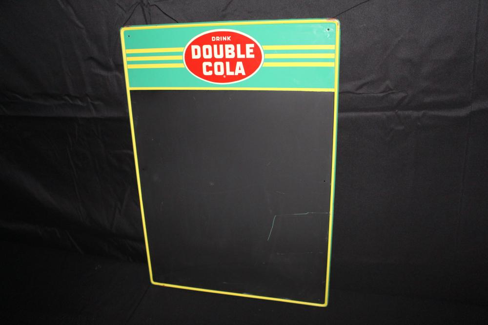 DRINK DOUBLE COLA BLACKBOARD SIGN