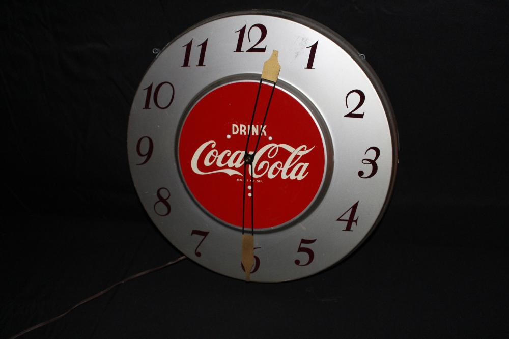 DRINK COCA COLA CLOCK SIGN