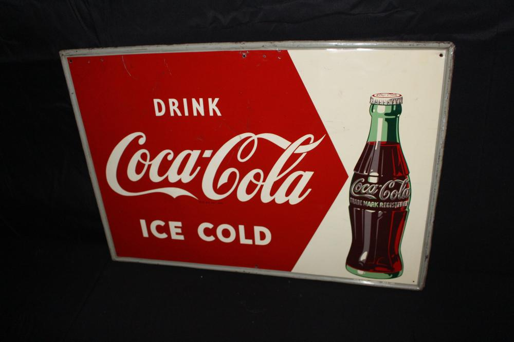 DRINK ICE COLD COCA COLA SODA POP SIGN