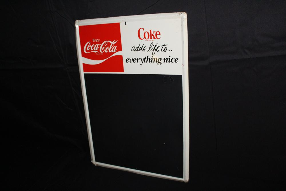 COKE ADDS LIFE TO EVERYTHING BLACKBOARD SIGN