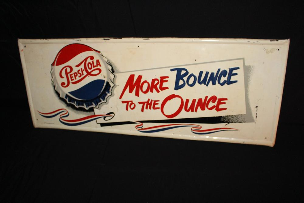 MORE BOUNCE TO THE OUNCE PEPSI COLA SIGN
