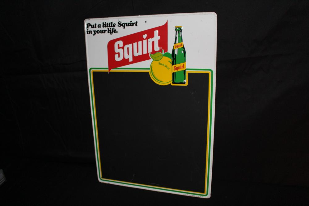 PUT A LITTLE SQUIRT IN YOUR LIFE BLACKBOARD SIGN