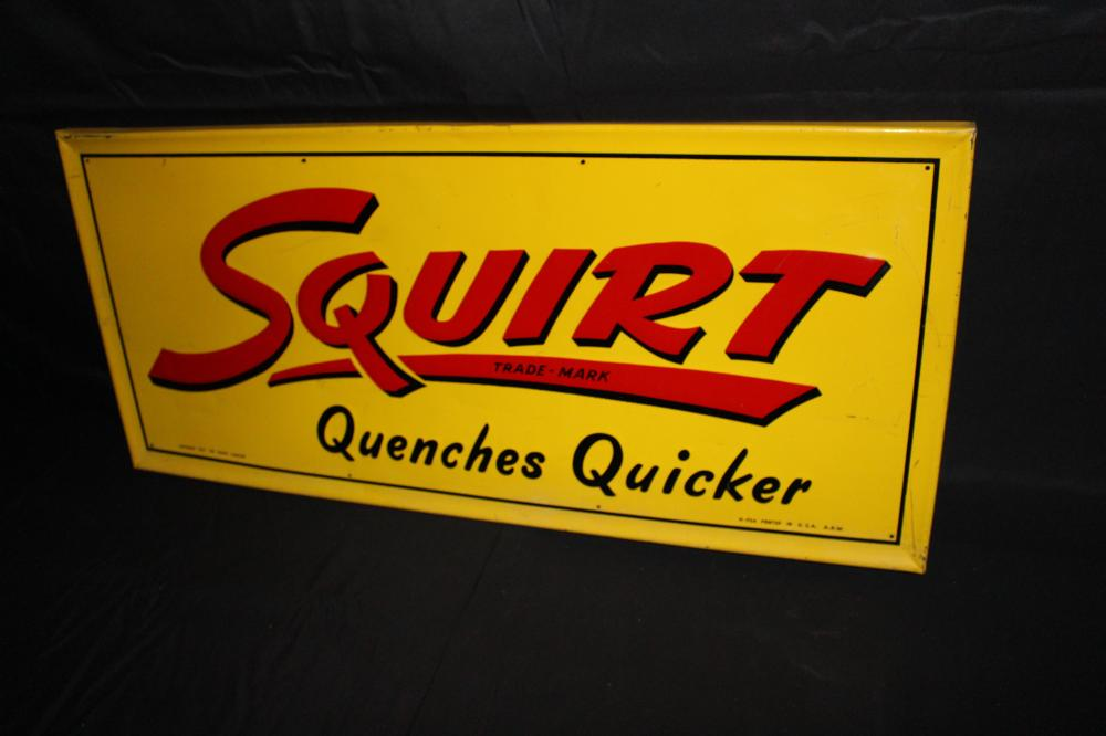 SQUIRT QUENCHES QUICKER SIGN