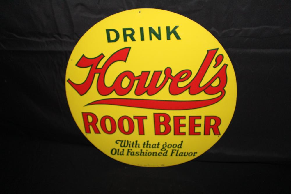 DRINK HOWELS ROOT BEER SODA POP SIGN