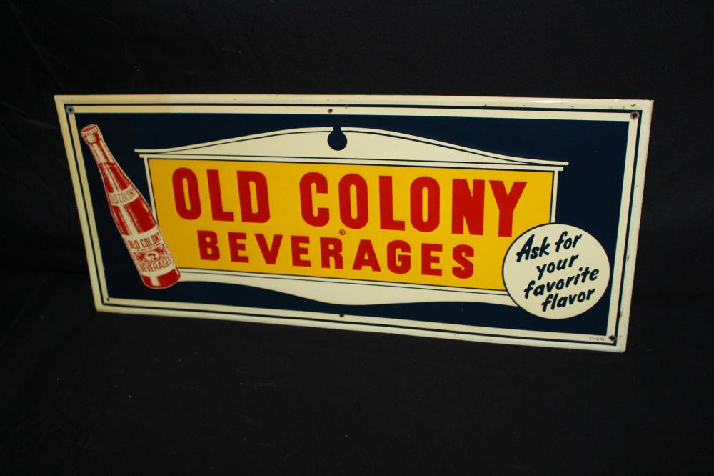 OLD COLONY BEVERAGES SODA POP SIGN
