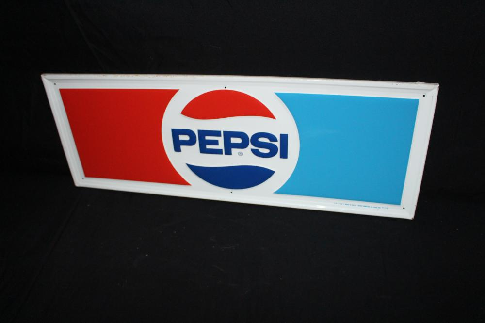 PEPSI COLA SODA POP TIN SIGN