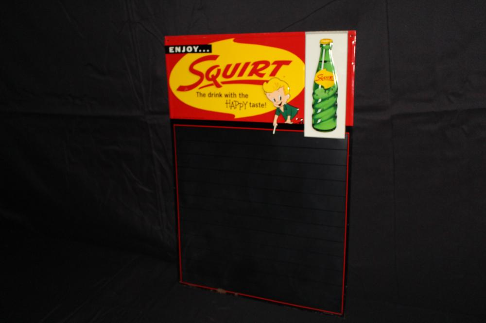 ENJOY SQUIRT SODA POP BLACKBOARD SIGN