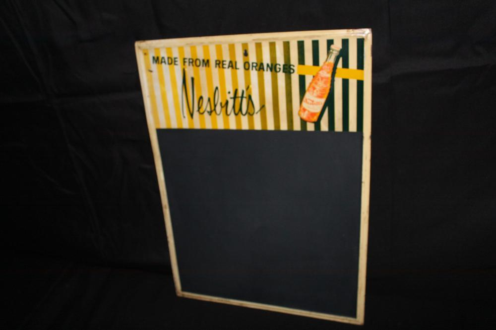 NESBITTS ORANGE SODA POP BLACKBOARD SIGN
