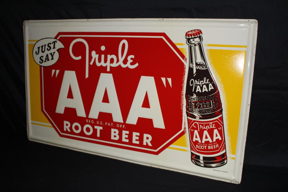 TRIPLE AAA ROOT BEER SODA POP SIGN