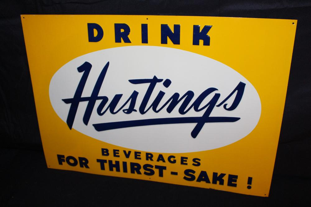 DRINK HUSTINGS BEVERAGES SODA POP SIGN