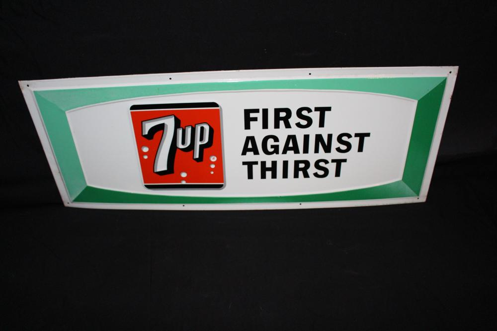 7-UP FIRST AGAINST THIRST SODA POP SIGN SEVEN UP