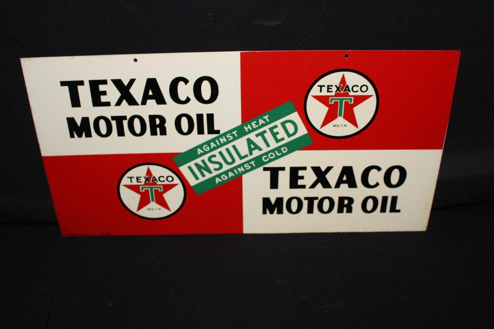 TEXACO MOTOR OIL RACK SIGN